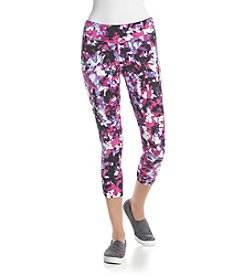 Kensie® Performance Printed Crop Leggings