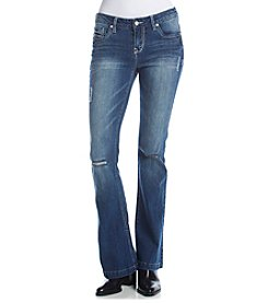 Wallflower® Destructed Flare Jeans