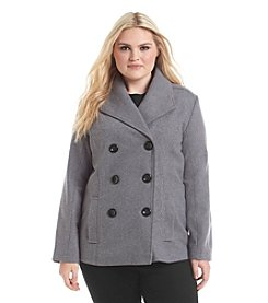 Rampage® Plus Size Basic Peacoat