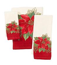 Lenox® Poinsettia Tartan Towel Collection