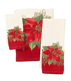 Lenox® Poinsettia Tartan Towel Collection