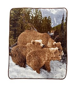 Ruff Hewn Bear Wild Life Photo Real Throw