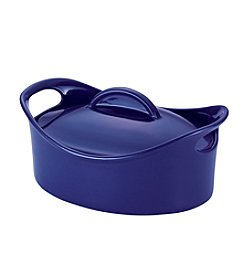 Rachael Ray® Cucina Oven-To-Table 2.5-Qt. Blue Hard Enamel Nonstick Covered Round Casserole
