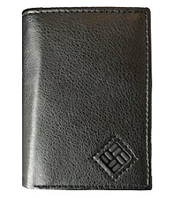 Columbia Men's Black RFID Trifold Wallet