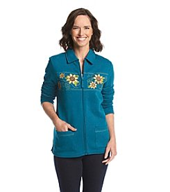 Breckenridge® Embellished Fleece Cardigan