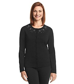 Studio Works® Embellished Button Front Cardigan