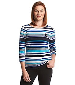 Studio Works® Striped Button Shoulder Top