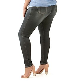 Poetic Justice® Plus Size Maya Mid Rise Skinny Jeans