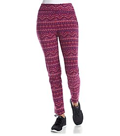 Exertek® Fair Isle Print Microfleece Pants