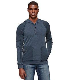 Calvin Klein Jeans® Men's Long Sleeve Henley Knit Hoodie