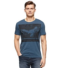 Calvin Klein Jeans® Men's Short Sleeve Textured Eagle Crew Neck Tee