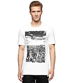 Calvin Klein Jeans Men's Short Sleeve Crew Neck Cityscape Tee