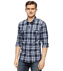 Calvin Klein Jeans® Men's Long Sleeve Blurred Plaid Button Down