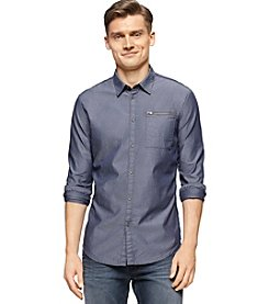 Calvin Klein Jeans® Men's Long Sleeve Mini Geo Dobby Button Down