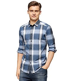 Calvin Klein Jeans® Men's Long Sleeve Plaid Button Down Shirt