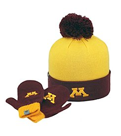 NCAA® Minnesota Child's Pom Hat and Mitten Set