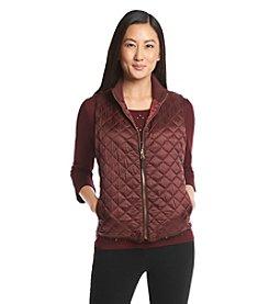 Rafaella® Petites' Metallic Puffer Vest