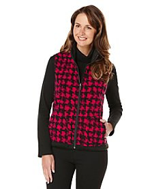Rafaella® Petites' Houndstooth Print Vest