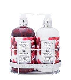 Brompton & Langley Frosted Cranberry Bath Caddy
