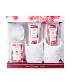 Brompton & Langley Frosted Cranberry Slipper Set