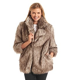 Betsey Johnson® Short Faux Fur Coat