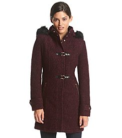 Ivanka Trump® Hooded Toggle Coat With Faux Fur Trim