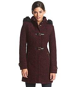 Ivanka Trump® Hooded Toggle Coat With Faux Fur Trim