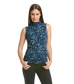 ruff hewn GREY Sleeveless Ruched Turtleneck