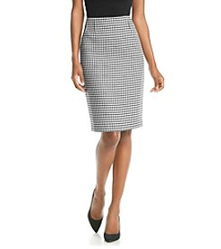 Kasper® Houndstooth Skirt