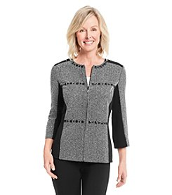 Alfred Dunner® Petites' Oscar Night Spliced Texture Jacket