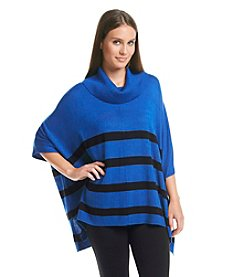 Calvin Klein Striped Cowl Cape