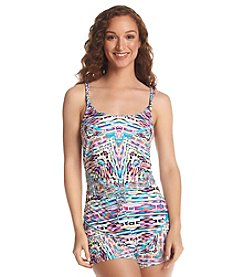 Kenneth Cole REACTION® Hot To Trot Drawstring Romper Coverup