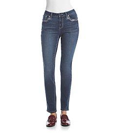 Earl Jean® Lace Bling Patch Skinny Ankle Jean