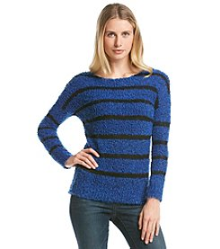 Relativity® Striped Eyelash Sweater