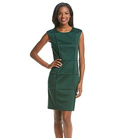London Times® Piped Ponte Dress