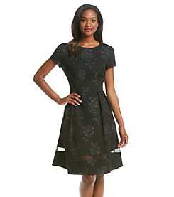 Jessica Howard® Floral Embossed Scuba Dress