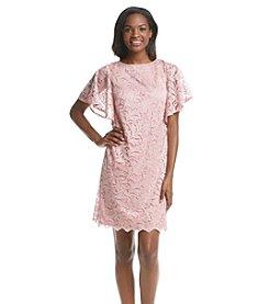 AGB® Lace Chiffon Cocktail Dress
