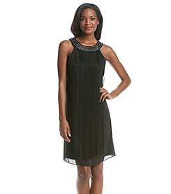S.L. Fashions Beaded Neckline Cocktail Dress