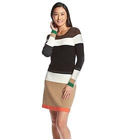 Jessica Howard® Petites' Striped Sweater Dress
