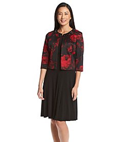 Jessica Howard® Petites' Floral Scuba Jacket Dress