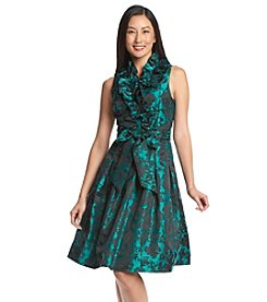 Jessica Howard® Petites' Ruffled Collar Floral Pattern Dress