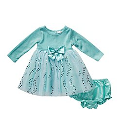 Sweet Heart Rose® Baby Girls' 12-24 Month Sweet Heart Chiffon Dress With Diaper Cover