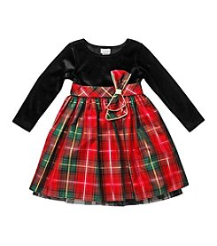 Sweet Heart Rose® Baby Girls' 12-24M Velvet Plaid Dress