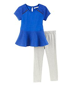 DKNY® Girls' 2T-6X Ponte Poplin Set