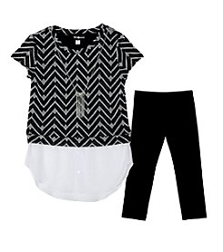 Amy Byer Girls' 7-16 Chevron Sweater Set