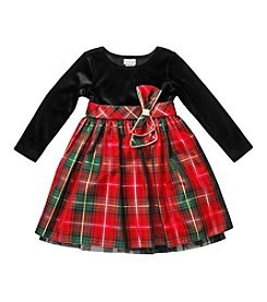 Sweet Heart Rose® Girls' 2T-6X Plaid Bow Dress
