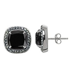 Impressions® Crystal Stud Earrings In Sterling Silver