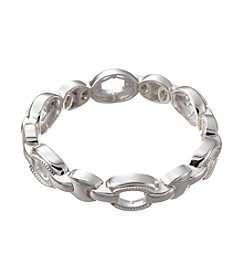 Napier® Silvertone Linked Stretch Bracelet