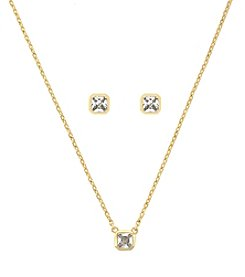 Jessica Simpson Goldtone Cubic Zirconia Stud and 16