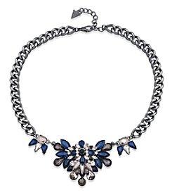GUESS Hematite Tone Mini Statement Necklace